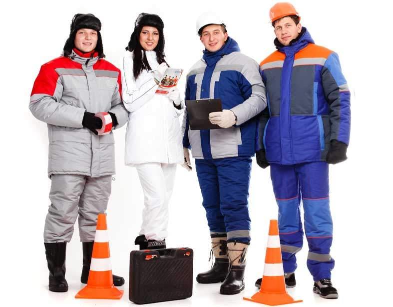 Выбор зимней рабочей одежды